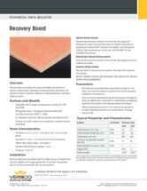 Versico Recovery Board Technical Data Bulletin (TDB)
