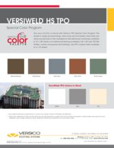 VersiWeld TPO Color Palette Sell Sheet